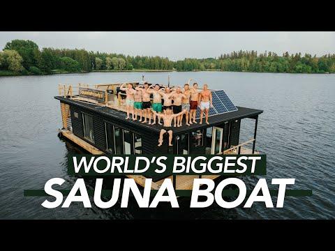 World's BIGGEST SAUNA BOAT - A Filmmaker's Paradise