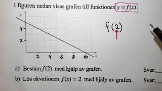 Matematik 1b. Några blandade uppgifter inför Nationella provet.