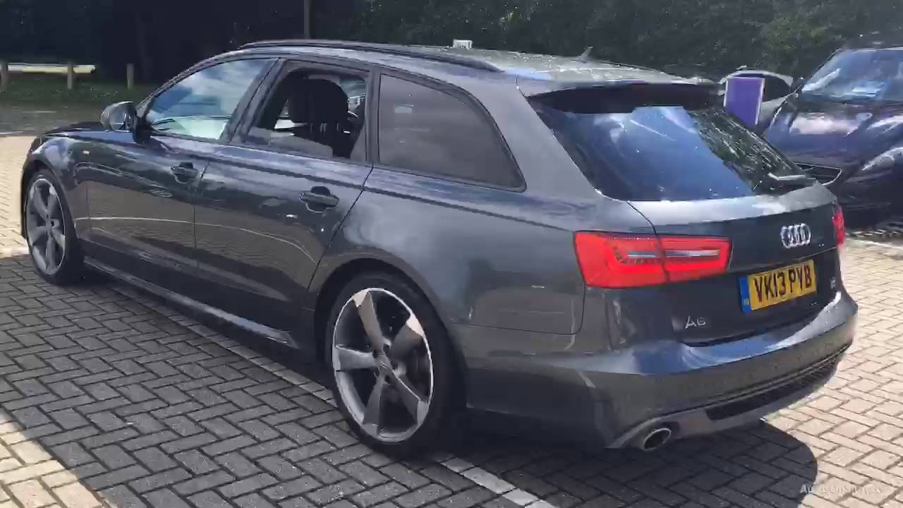 audi a6 avant tdi quattro s line black edition grey 2013 youtube. Black Bedroom Furniture Sets. Home Design Ideas