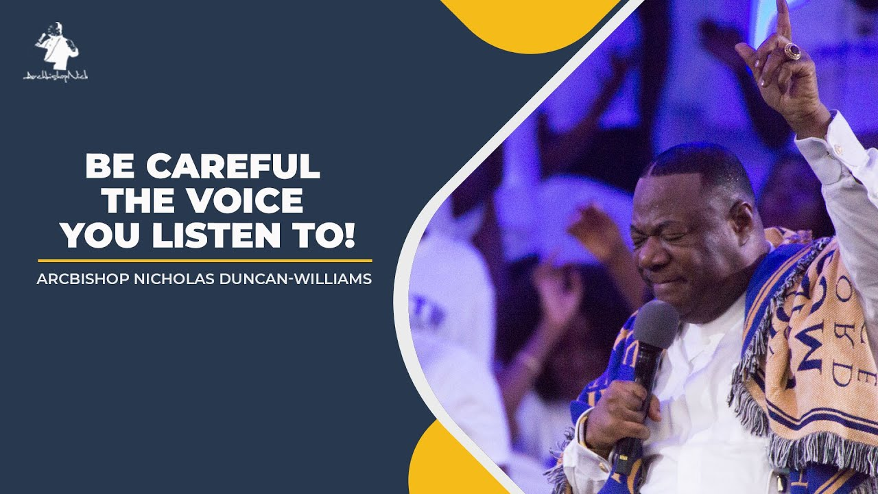 BE CAREFUL THE VOICE YOU LISTEN TO!