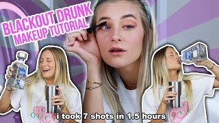 BLACKOUT DRUNK MAKEUP TUTORIAL | Katelyn Fitch