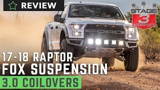 2017-2018 Raptor Fox 3.0 Factory Series Remote Reservoir Coilover kit Review