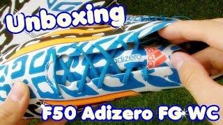 Unboxing: adidas f50 adizero fg wc - lionel messi fußballschuh