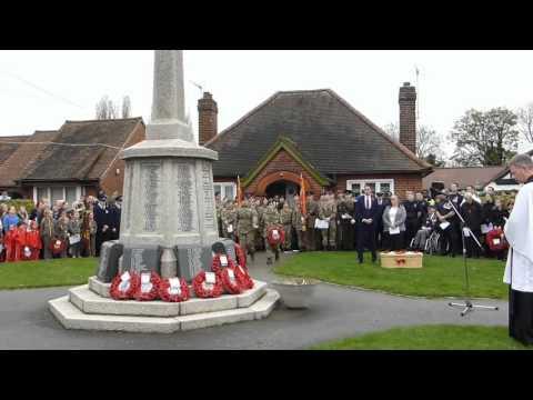 Cheshunt War Memorial  Remeberance Service 2015