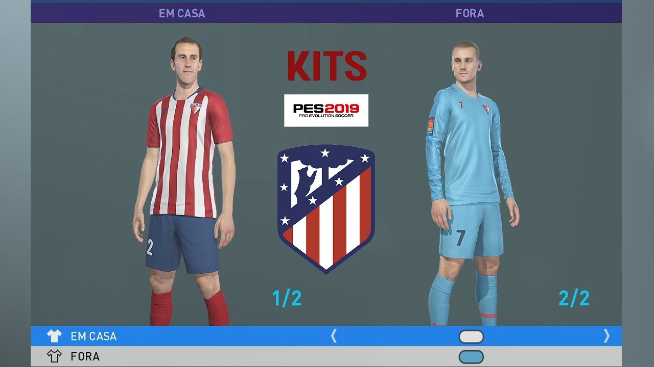 ATLETICO MADRID KITS PES 2019 XBOX ONE