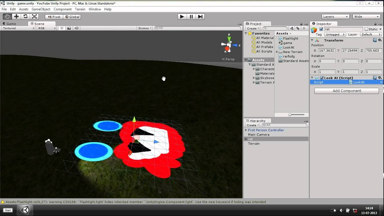 How to make a gameObject look at something - Unity 3D #4