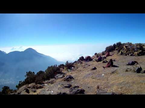 Peak of Santa Maria Volcano in Guatemala (Volcán Santa María)