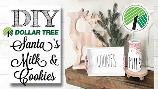 DIY Dollar Tree Milk & Cookies | 6 of 12 Days of Christmas