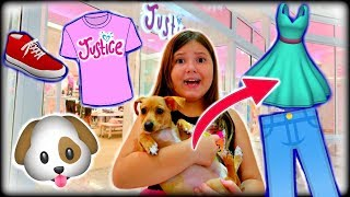 My Dog Picks out My Outfit at the Mall! at Justice, H&M, Claire's!