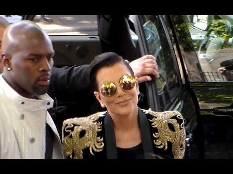 Kris Jenner Boyfriend Corey Gamble Paris Fashion Week  Balmain Show