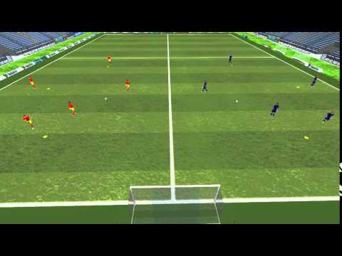 3D - One-touch Passing Move Drill II - Spanish FA (RFEF)