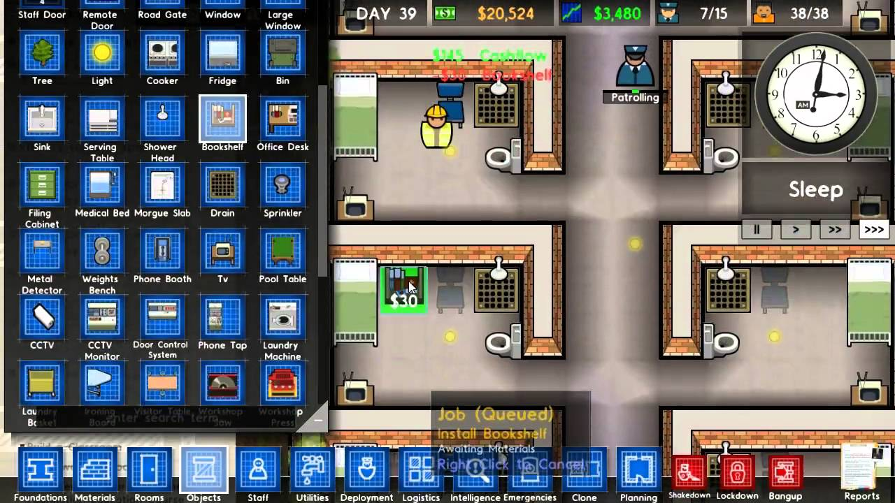 Prison Architect Playthrough 36 Fancy Cells