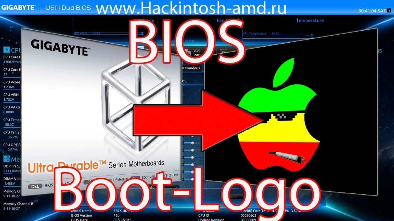 Как поменять логотип BIOS – UEFI Tool logo Bios Hackintosh