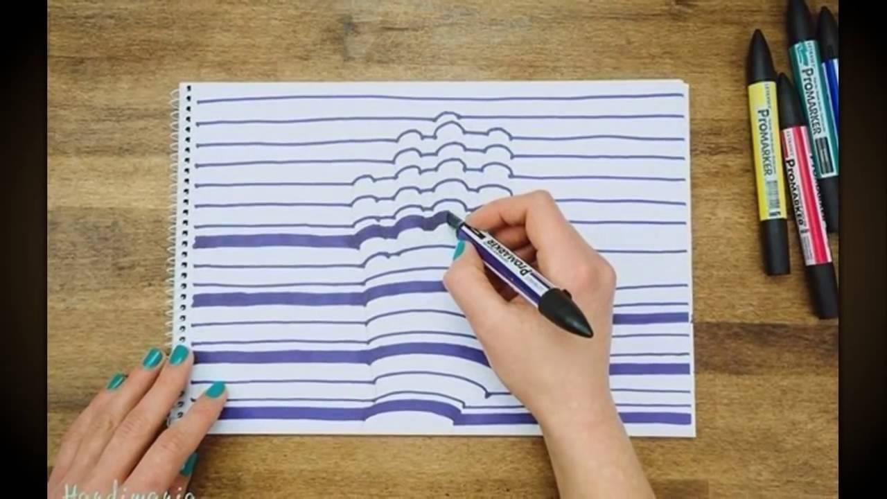 Рисунок 3 д рука, для открыток
