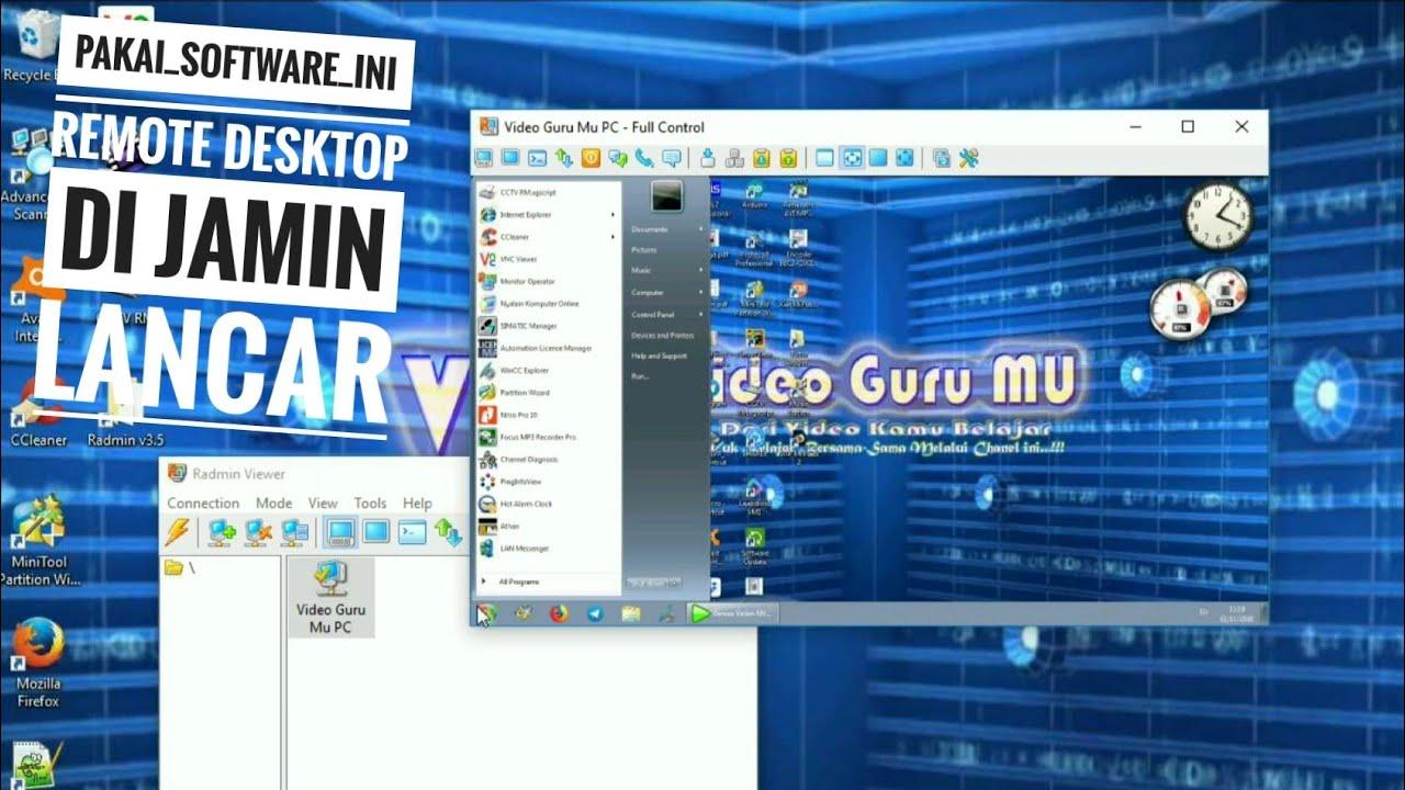 Cara Install & Setting Radmin Remote Desktop - YouTube