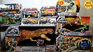 New Jurassic World Fallen Kingdom Toys Walmart Battle Damage Super Colossal Tyrannosaurus Rex Mattel