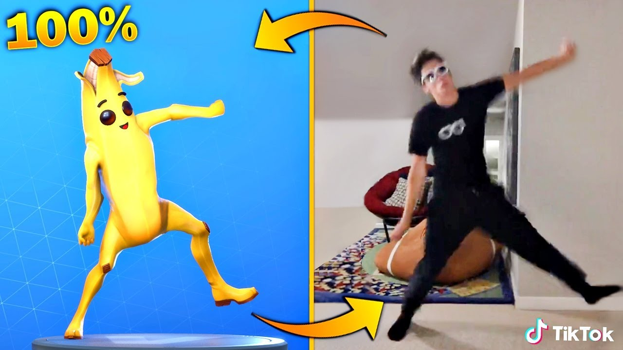 Download FORTNITE DANCES IN REAL LIFE THAT ARE 100% IN SYNC! (Original Fortnite Dances in Real Life)