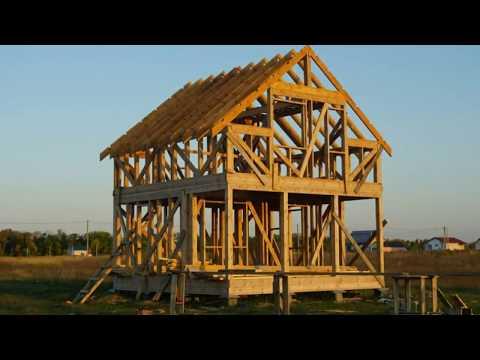 Каркасный дом 6*6 своими руками. От фундамента до крыши.