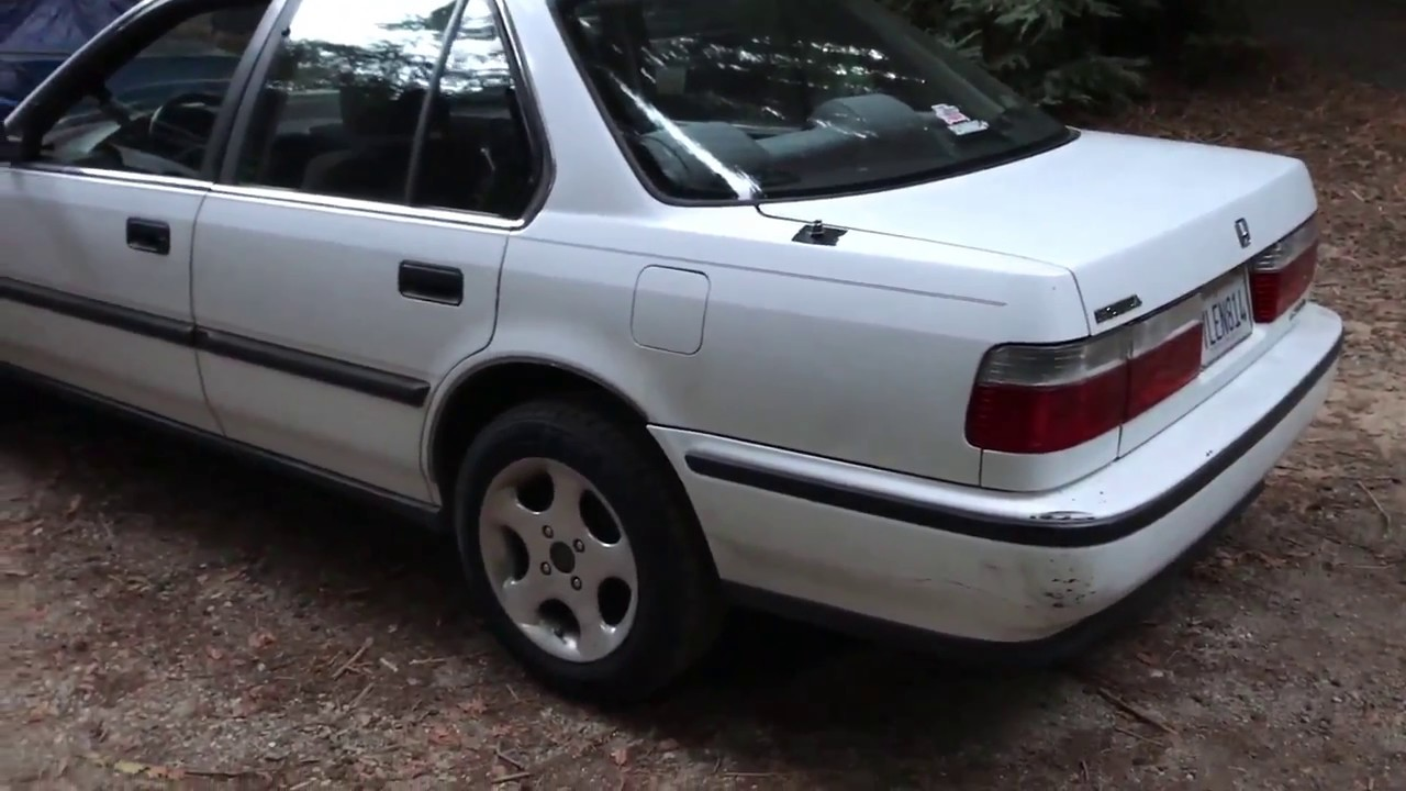 1990 Honda Accord JDM Tail Lights Install - YouTube