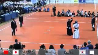 日本 2-1 韓国 先鋒 内村 次鋒 勝見 中堅 正代 副将 木和田 大将 高鍋.