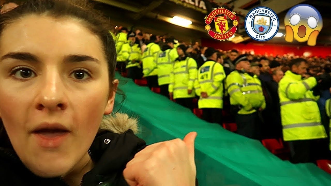 I sat in the middle of MAN UTD and MAN CITY FANS at the MANCHESTER DERBY...