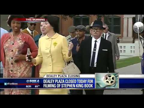 Dealey Plaza shut down, transformed for miniseries filming