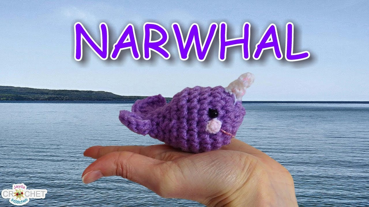 Crochet Amigurumi Narwhal Pattern - YouTube