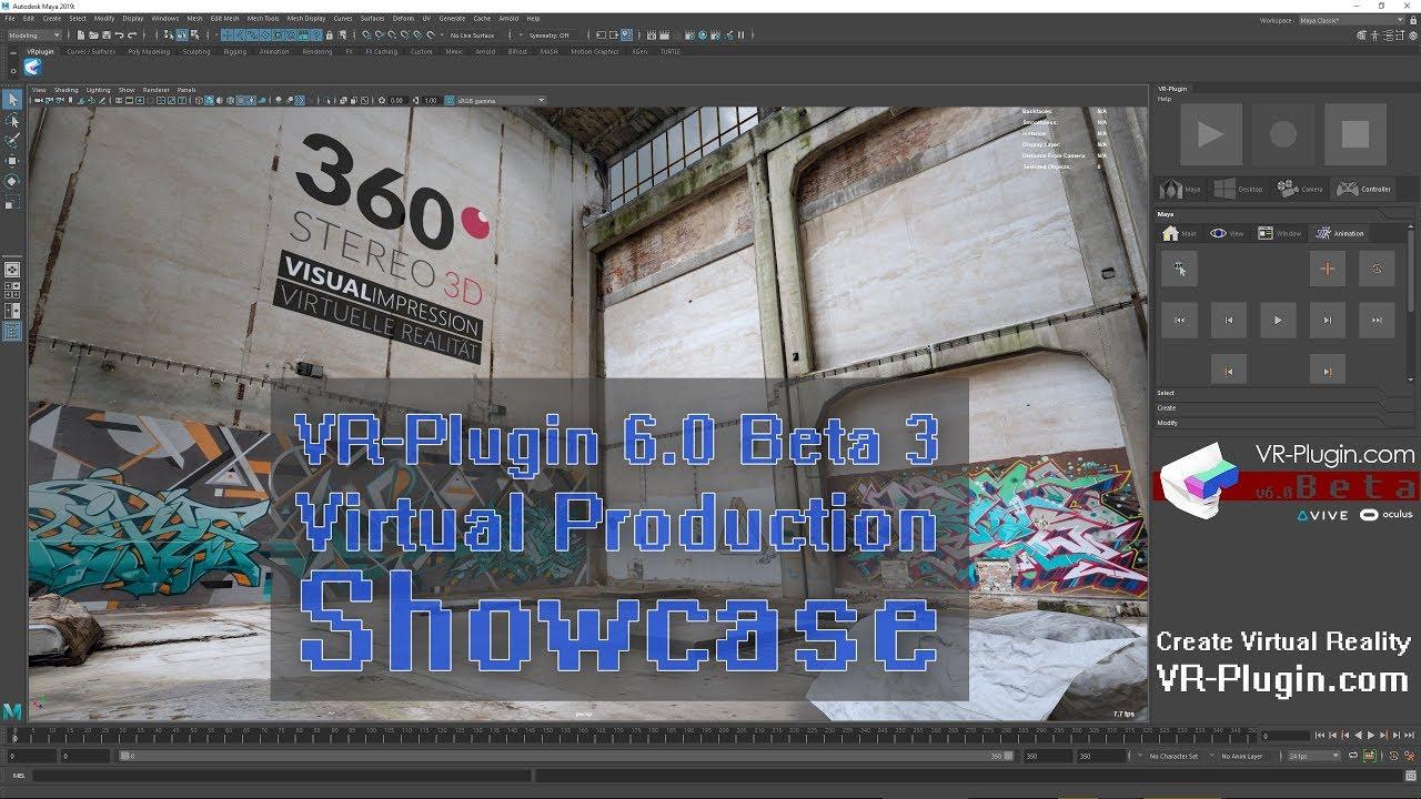 VR-Plugin – Create Virtual Reality with Autodesk Maya