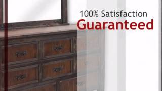 Cordoba Dark Finish 8 Drawer Dresser & Mirror - Lonestarwesterndecor.com