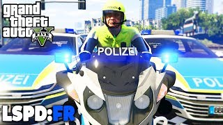 GTA 5 LSPD:FR - Motorradpolizei in Los Santos! - Deutsch - Polizei Mod #52 Grand Theft Auto V