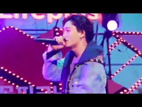 iKON 아이콘 Fancam 180407 벚꽃 피크닉 페스티벌 사랑을 했다(Love Scenario) 멤버별 직캠 Full ver. (COLOR REGRADED)