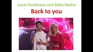 Louis Tomlinson And Bebe Rexha I Keep On Coming Back To You Английский язык по песням