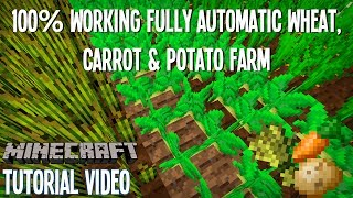 Fully Automatic Wheat, Potato & Carrot Farm - 100% Working!!! - Tutorial