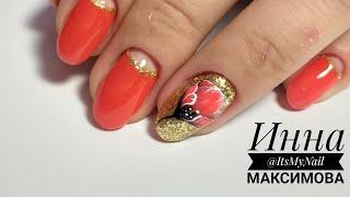 💖 ГОРЯЧИЙ дизайн 💖 АЛЫЕ ногти 💖 рисуем ЦВЕТОК на ногтях гель лаком PATRISA NAIL 💖