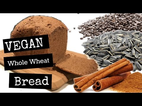 Vegan Breadmaker Whole Wheat Bread | Low Oil, Sugar, & Salt