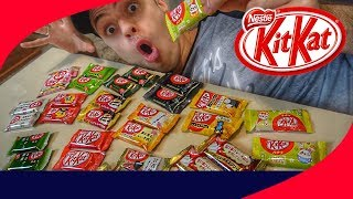 PROVANDO OS KIT KATS MAIS BIZARROS DO MUNDO! (KIT KAT DE FEIJÃO)