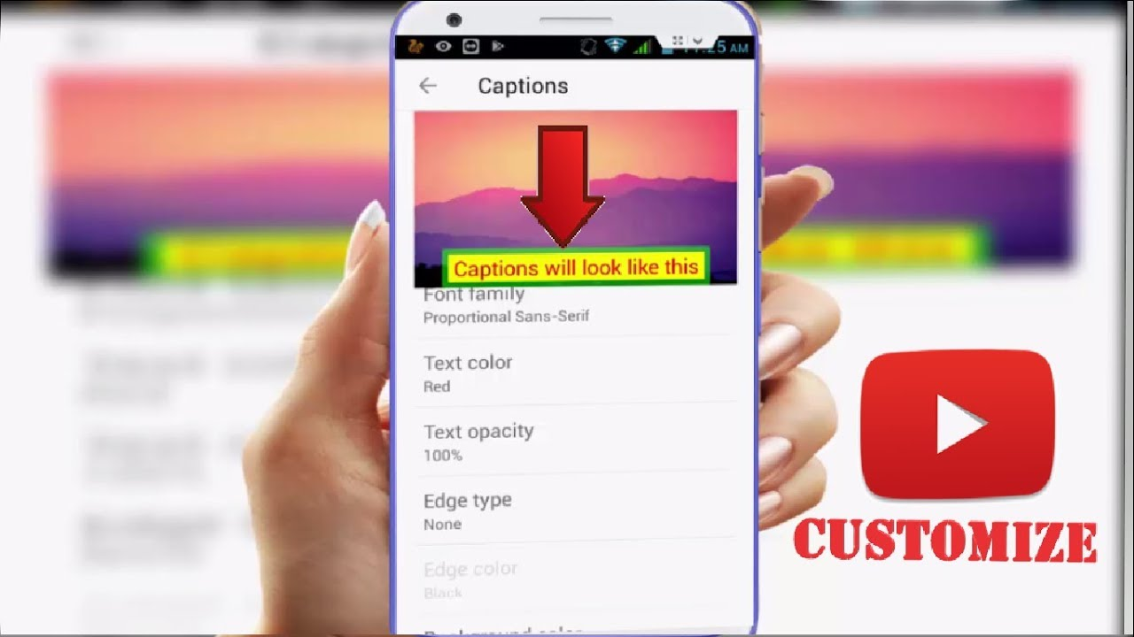 How to Customize Youtube Videos Captions in Android - YouTube