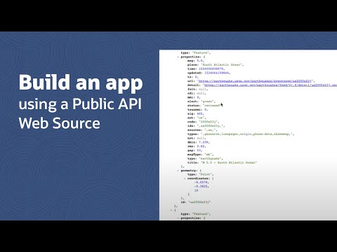 Building an app using a Public API Web Source