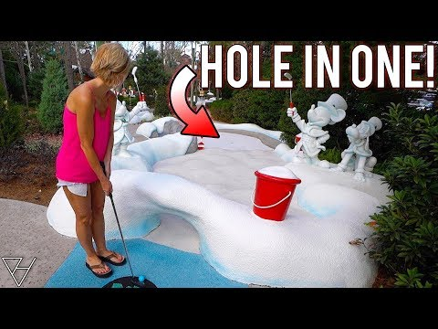 Back To Back Mini Golf Hole In One and Crazy One Of A Kind Holes!