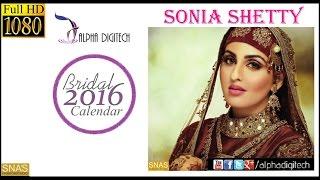 Cover images Alpha Digitech Bridal Calendar Photo Shoot 2016 July   Sonia Shetty