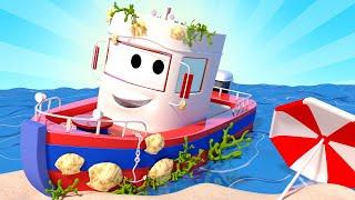 Toms Autowaschanlage -  Bobbys Seepocken - Autopolis  💧 Lastwagen Zeichentrickfilme für Kinder