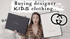 I BOUGHT MYSELF KIDS DESIGNER CLOTHES   Balenciaga & Gucci Haul