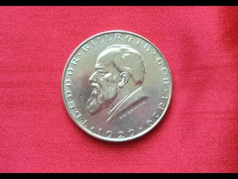 AUSTRIA 2 SCHILLING 1929 - 100th Anniversary - Birth of Dr. Theodor Billroth - Surgeon