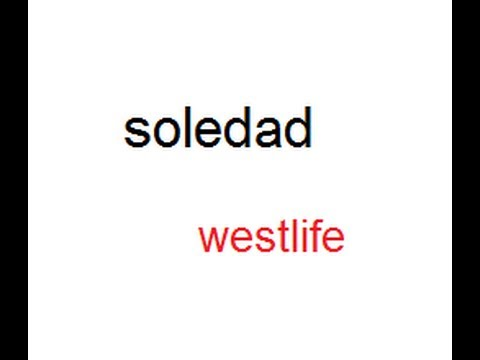 soledad mp3 (westlife)***