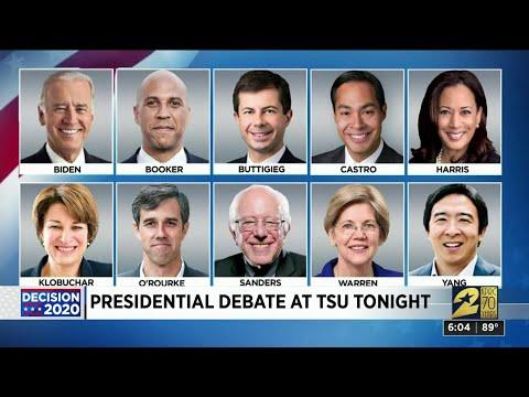Presidential debate at TSU tonight