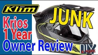 Gambar cover OVERPRICED JUNK - KLIM KRIOS CARBON - 1 YEAR OWNER REVIEW