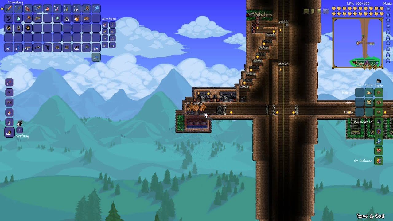 how to make a slime farm terraria
