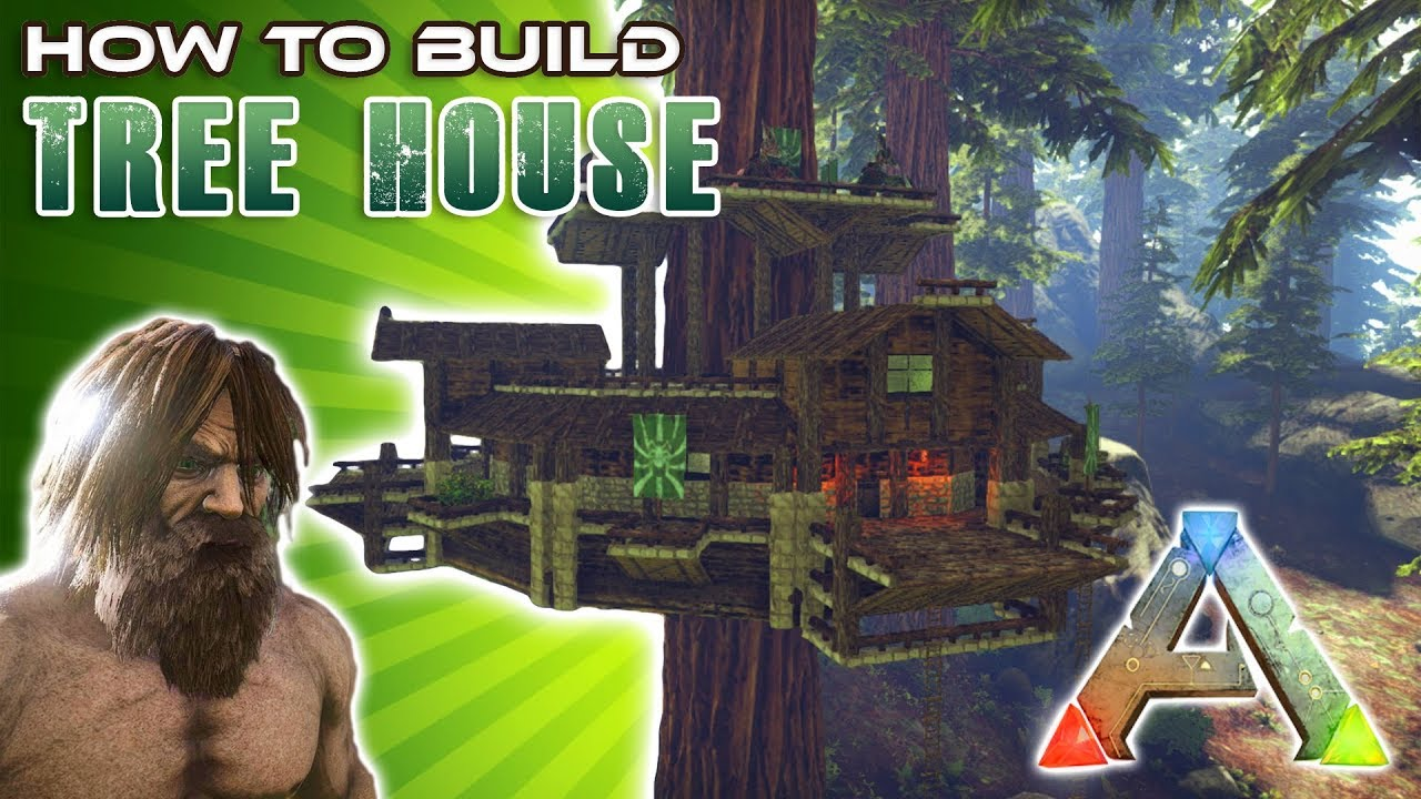 Tree house how to build ark survival youtube for How to build a small home
