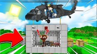 FAKİR HELİKOPTER HAPİSHANESİNDEN KAÇIYOR! 😱 - Minecraft