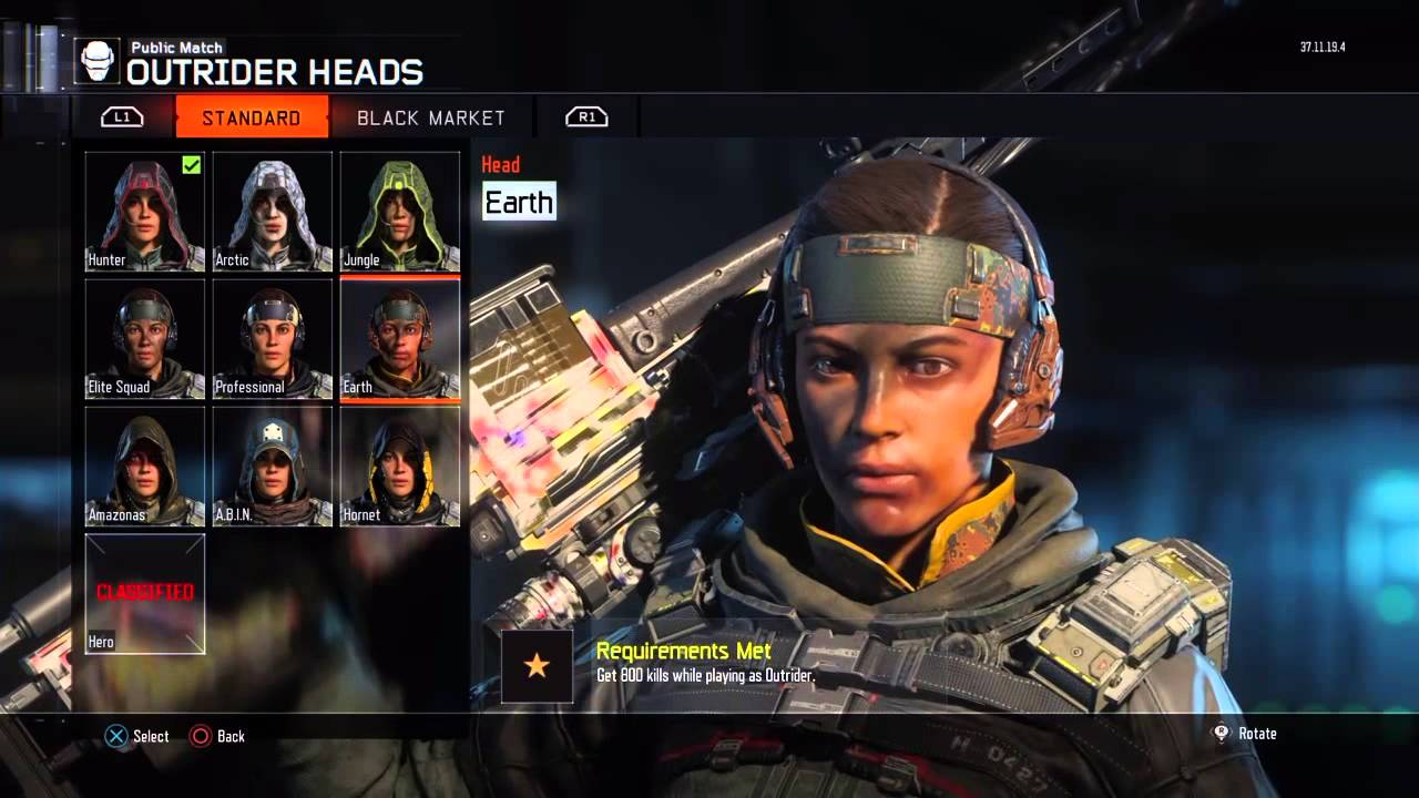 BO3 All Outrider Specialist Outfits ( Excluding Classified